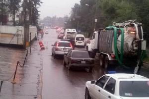 Lluvia provoca inundaciones en Cuautitlán Izcalli
