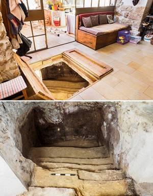 Hallan baño ritual de hace 2 mil años bajo su casa